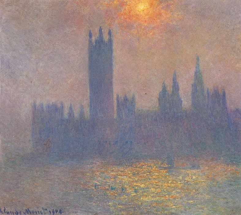 Houses of Parliament, Effect of Sunlight in the Fog. Claude Oscar Monet