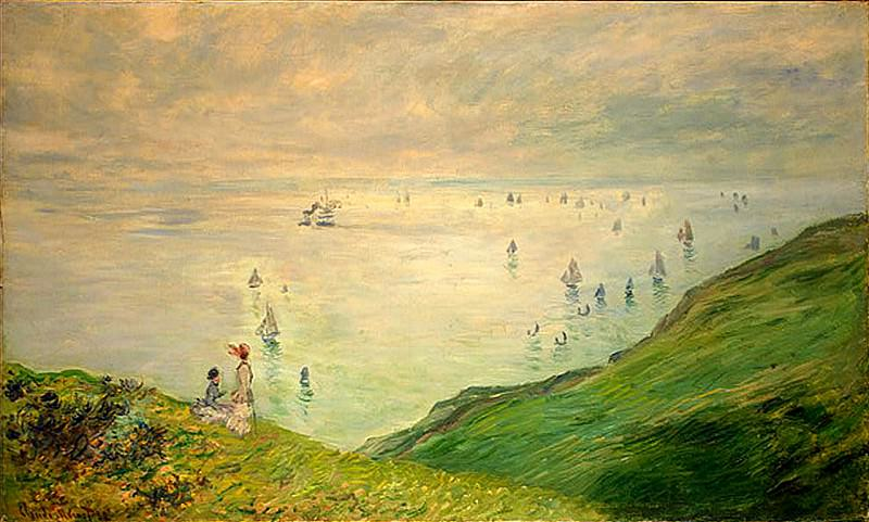 Cliffs Walk at Pourville. Claude Oscar Monet