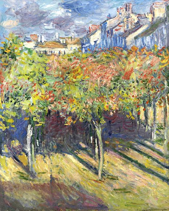 Les Tilleuls a Poissy. Claude Oscar Monet