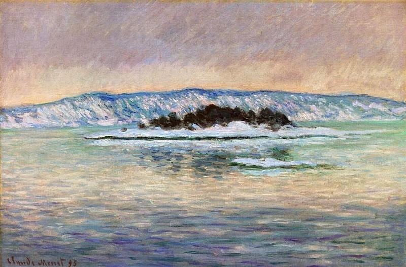 The Fjord, near Christiania. Claude Oscar Monet