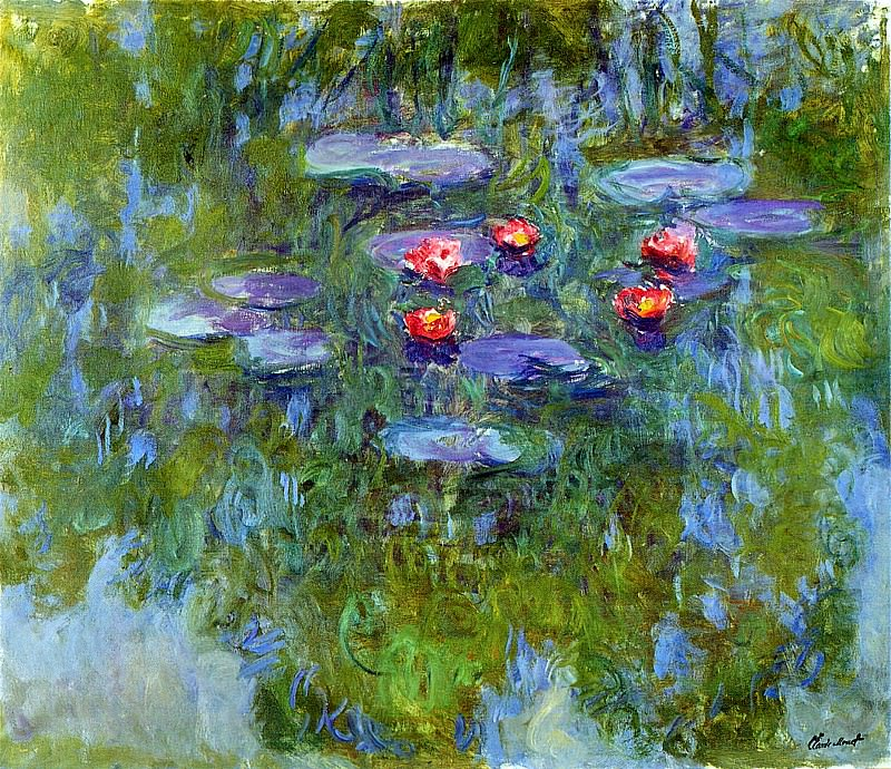 Water Lilies, 1916-19 04. Claude Oscar Monet
