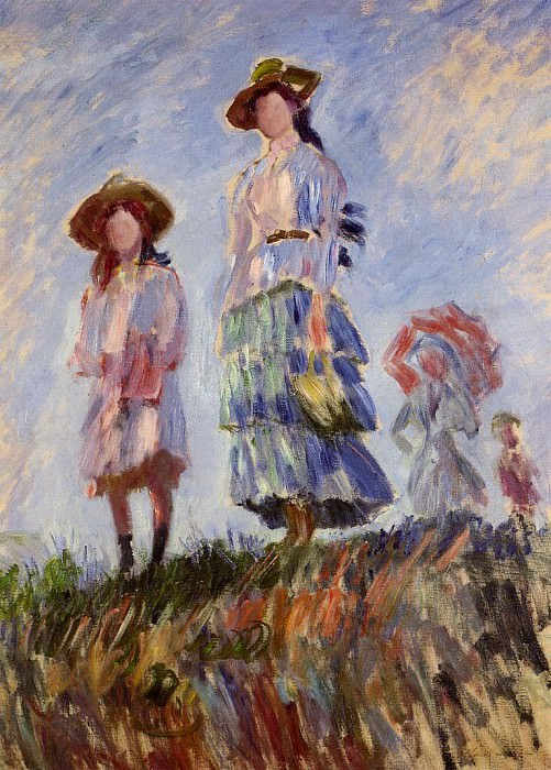 The Promenade (study). Claude Oscar Monet