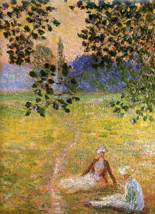 Evening in the Meadow at Giverny (detail). Claude Oscar Monet