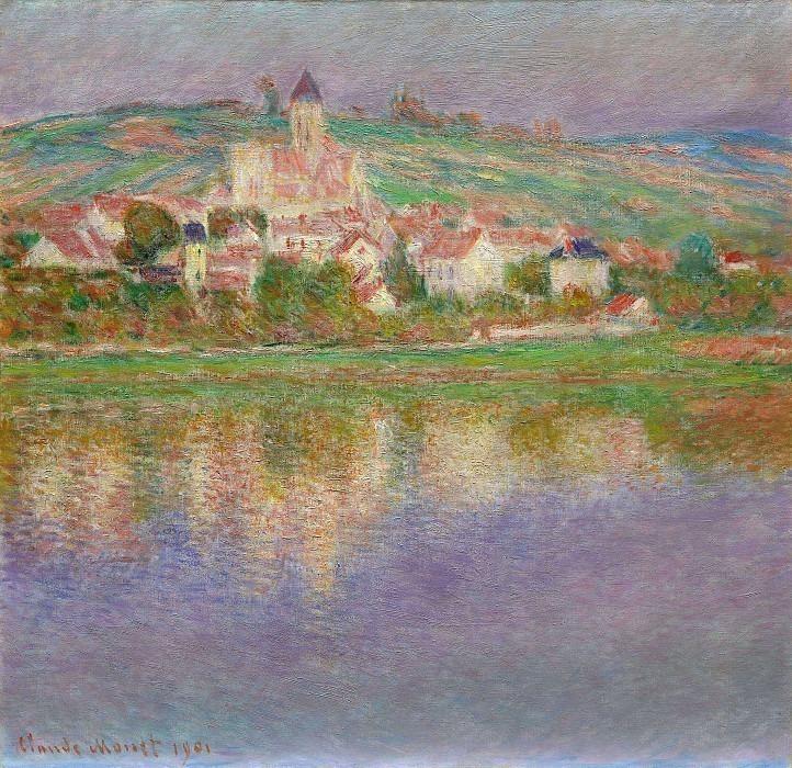 Vetheuil, Pink Effect. Claude Oscar Monet