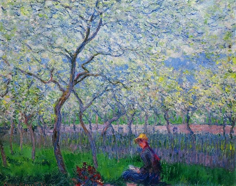 An Orchard in Spring. Claude Oscar Monet