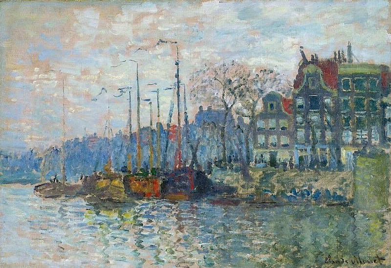Zaandam, The Dike. Claude Oscar Monet