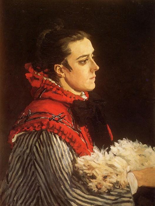 Camille with a Small Dog. Claude Oscar Monet