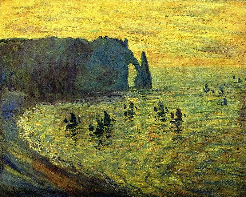 Cliffs at Etretat. Claude Oscar Monet