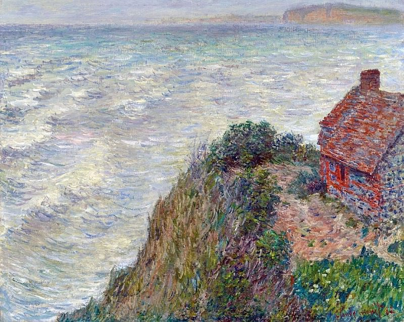 Fisherman`s House in Petit-Ailly. Claude Oscar Monet