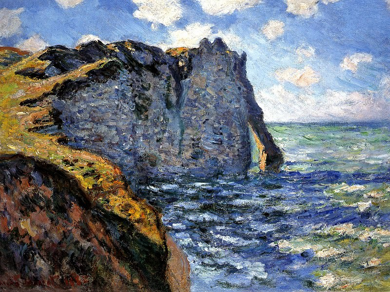 The Manneport. Claude Oscar Monet
