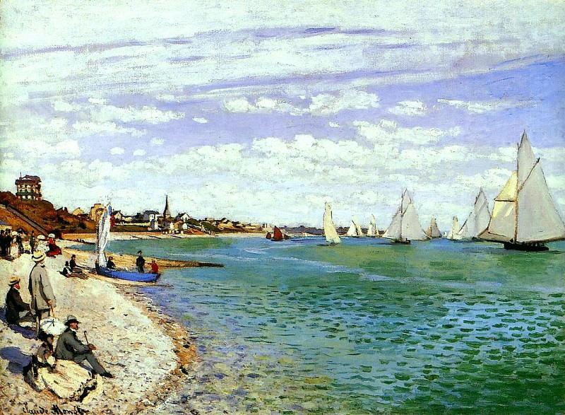 Regatta at Sainte-Adresse. Claude Oscar Monet