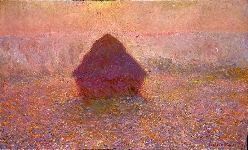Grainstack, Sun in the Mist. Claude Oscar Monet