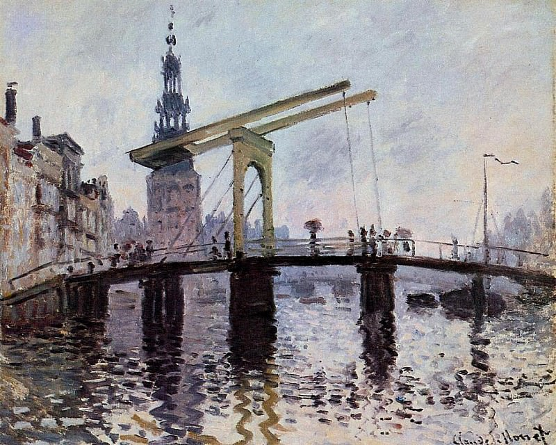 The Bridge, Amsterdam. Claude Oscar Monet
