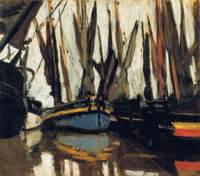 Fishing Boats (study). Claude Oscar Monet
