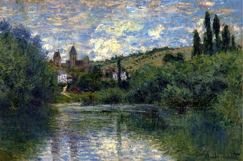 View of Vetheuil. Claude Oscar Monet