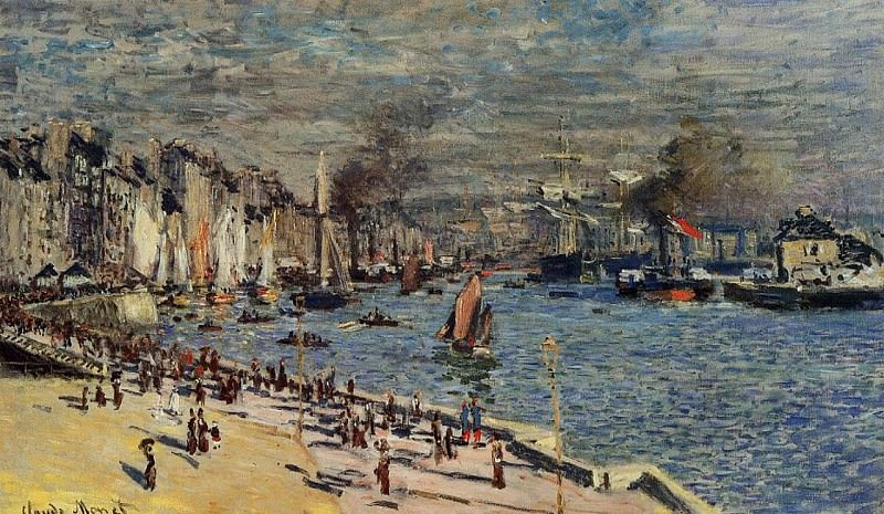 View of the Old Outer Harbor at Le Havre. Claude Oscar Monet