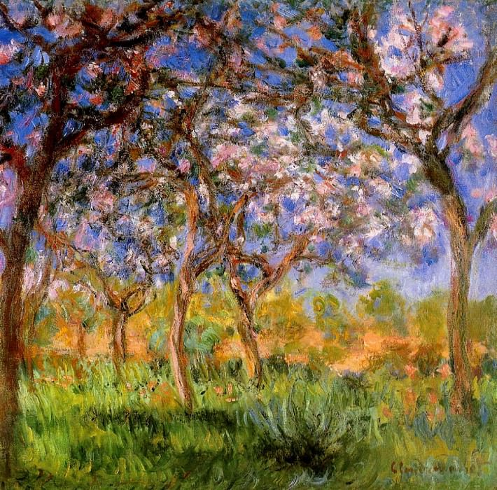 Giverny in Springtime, 1899-1900. Claude Oscar Monet
