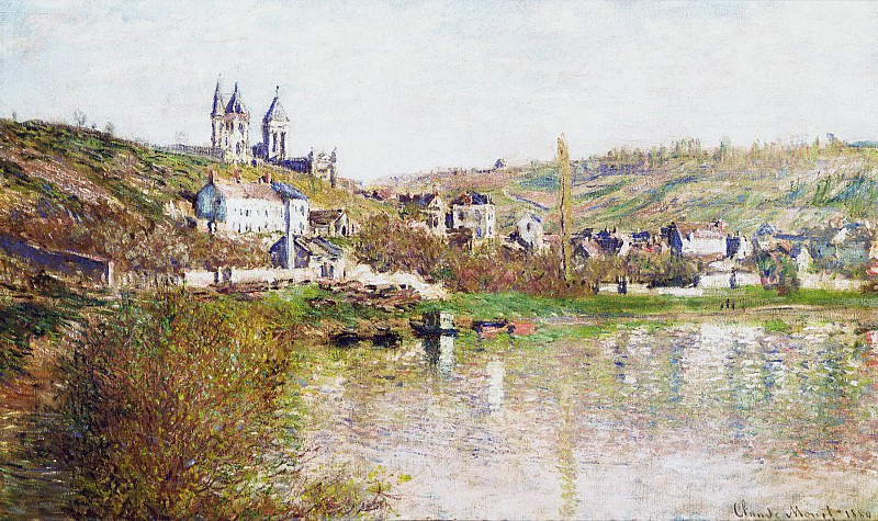 The Hills of Vetheuil. Claude Oscar Monet