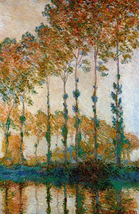 Poplars on the Banks of the River Epte in Autumn. Claude Oscar Monet