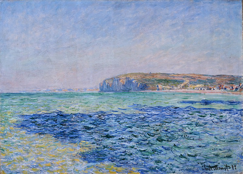 Shadows on the Sea at Pourville. Claude Oscar Monet