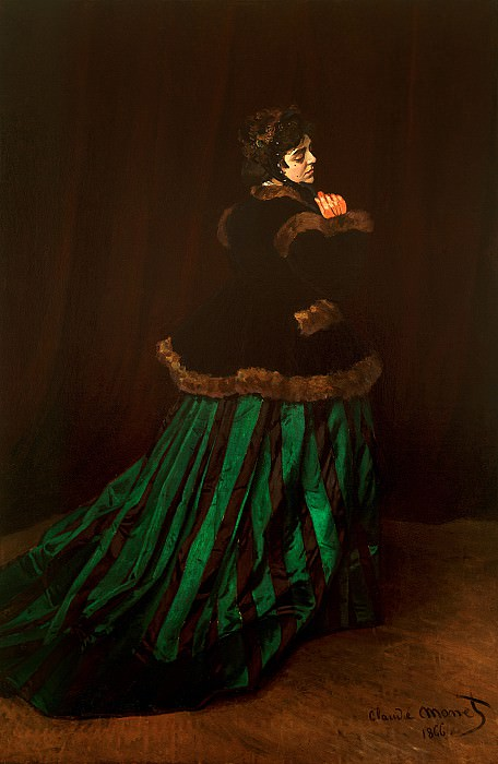 Camille (also known as The Woman in a Green Dress). Claude Oscar Monet