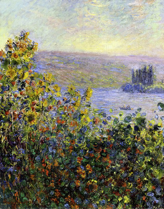 Flowers Beds at Vetheuil. Claude Oscar Monet