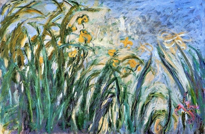 Yellow Irises and Malva. Claude Oscar Monet