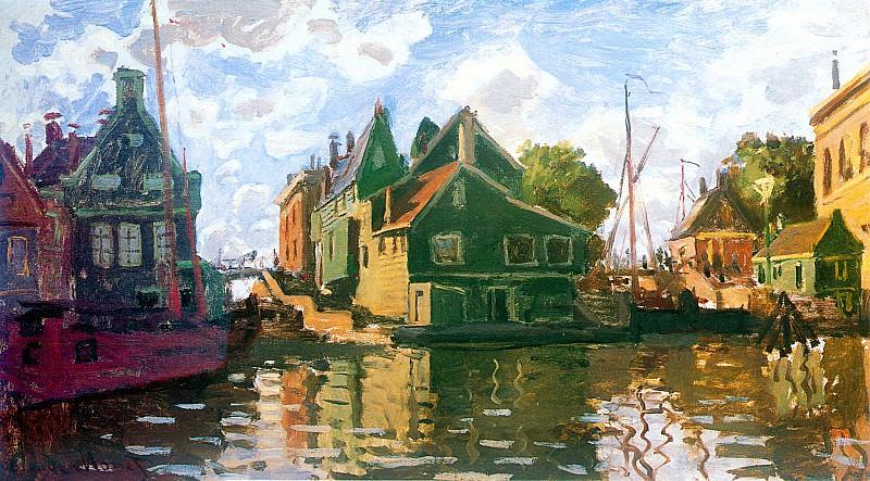 Zaandam, Canal. Claude Oscar Monet