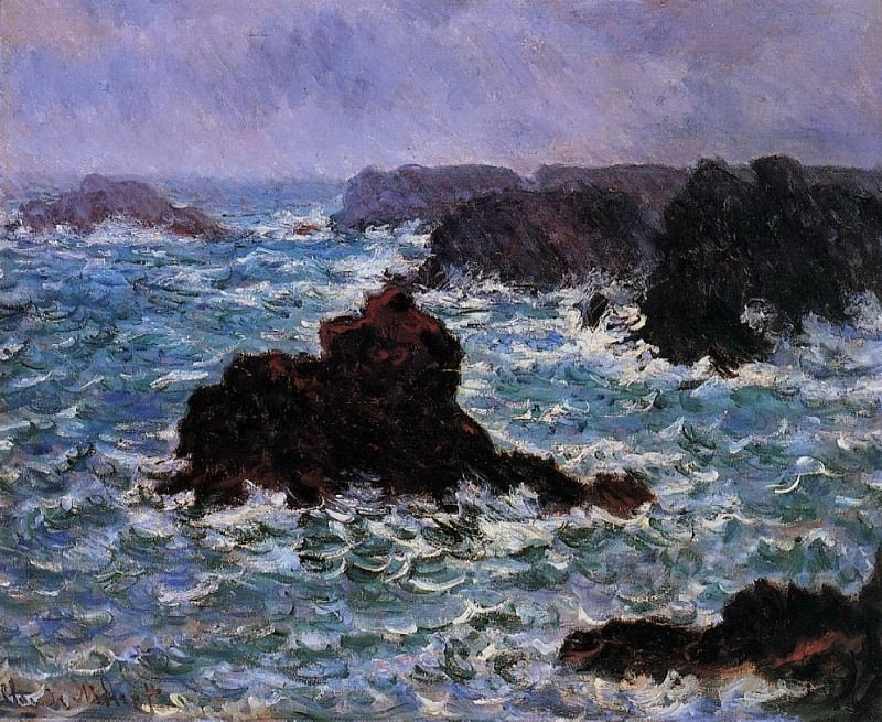 Belle-Ile, Rain Effect. Claude Oscar Monet