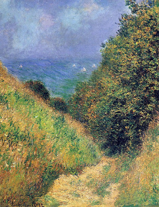 Path at Pourville 02. Claude Oscar Monet