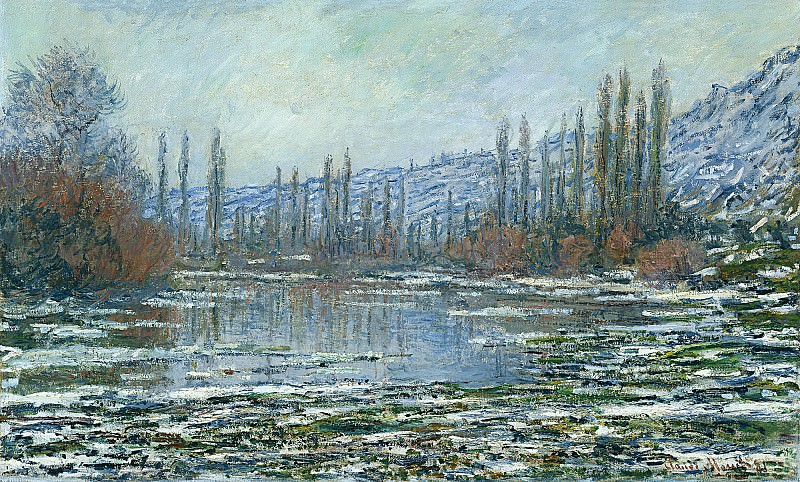The Thaw at Vetheuil. Клод Оскар Моне