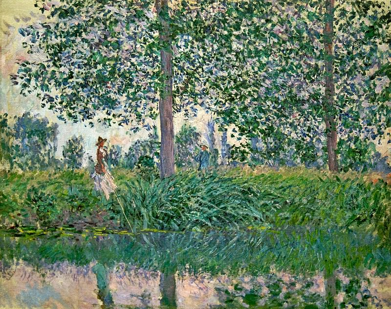 Fishing on the River Epte. Claude Oscar Monet