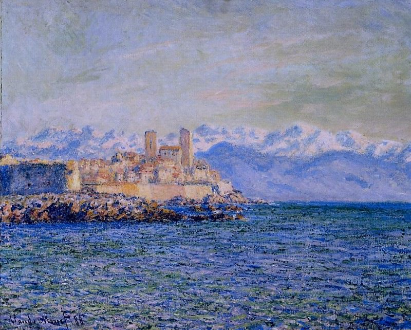 The Old Fort at Antibes. Claude Oscar Monet