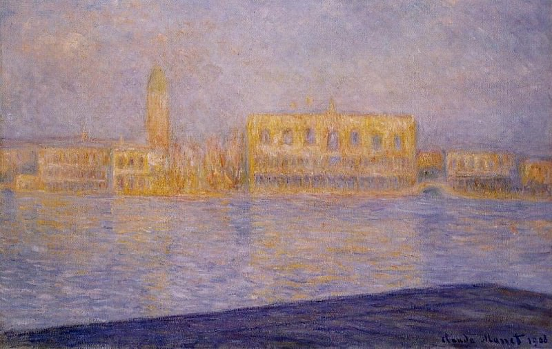 The Doges' Palace Seen from San Giorgio Maggiore 2. Claude Oscar Monet