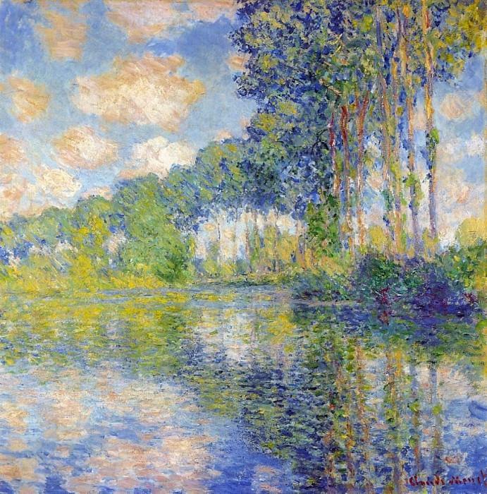 Poplars on the Epte. Claude Oscar Monet