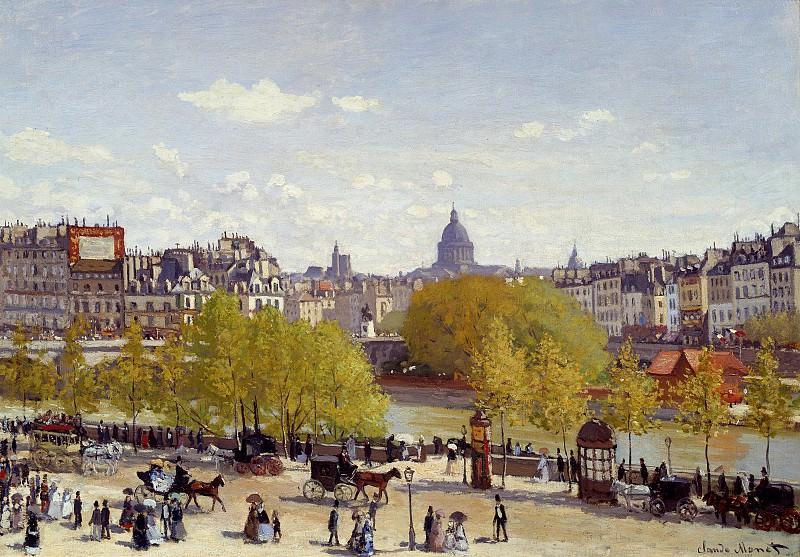 Quai du Louvre. Claude Oscar Monet