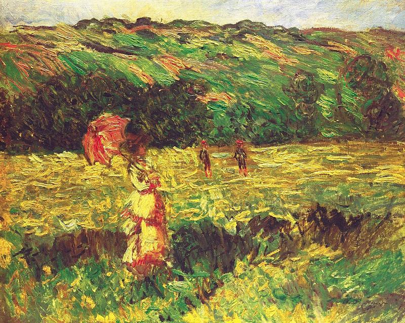The Promenade near Limetz. Claude Oscar Monet