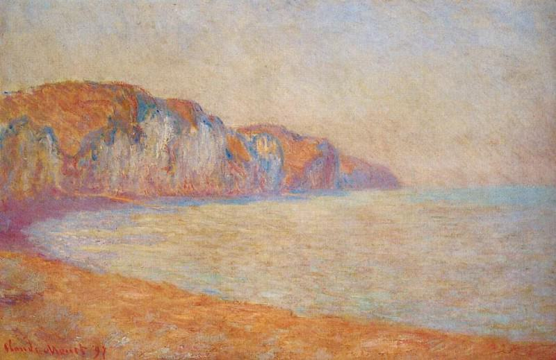Cliff at Pourville in the Morning. Claude Oscar Monet
