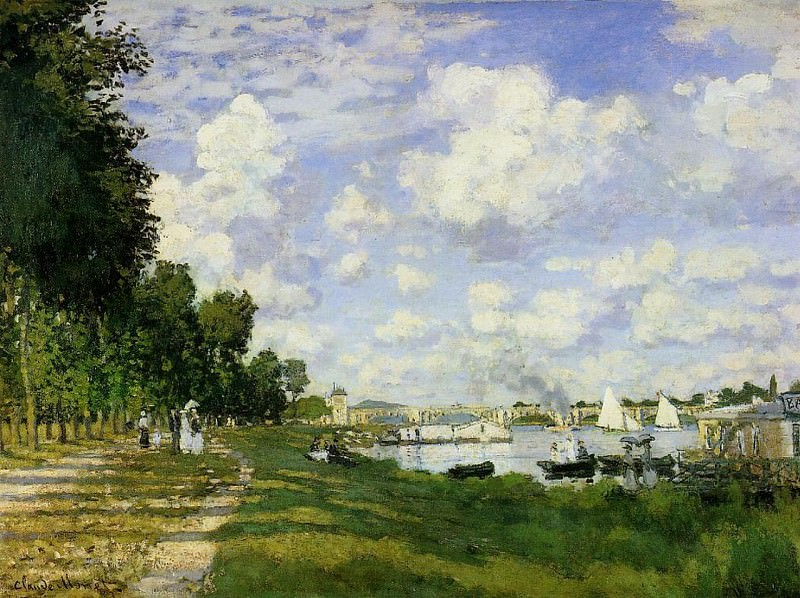 The Basin at Argenteuil. Claude Oscar Monet