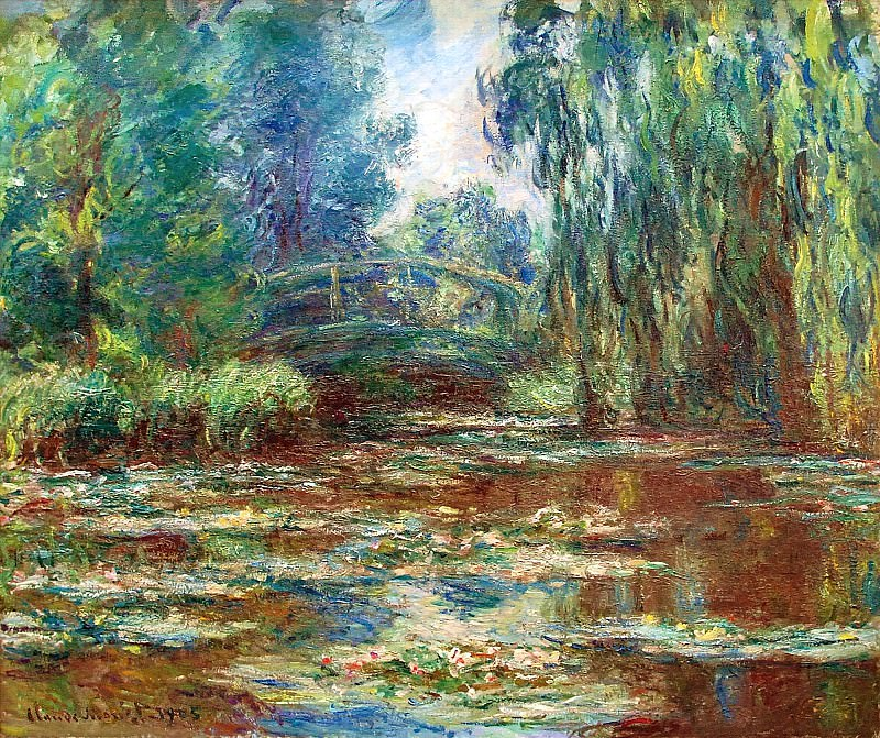 Water Lily Pond and Bridge. Claude Oscar Monet