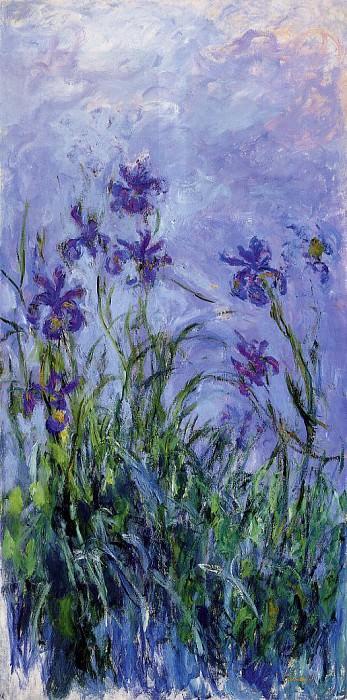 Lilac Irises. Claude Oscar Monet