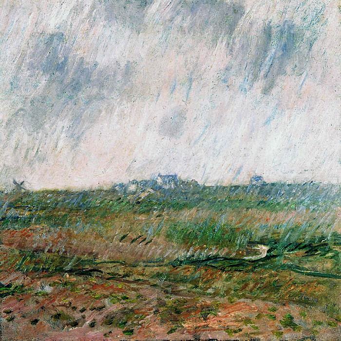 Rain in Belle-Ile. Claude Oscar Monet