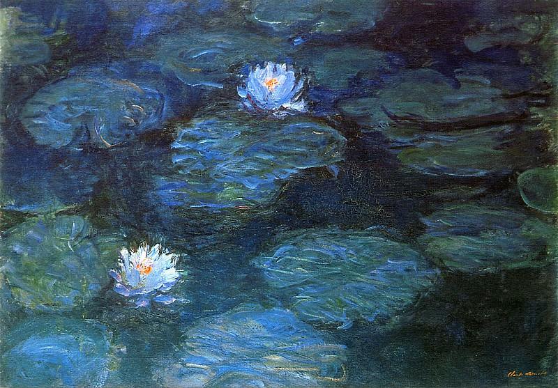 Water Lilies, 1897-99 02. Claude Oscar Monet