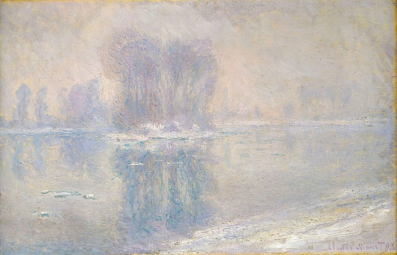 Ice on the Siene at Bennecourt. Claude Oscar Monet