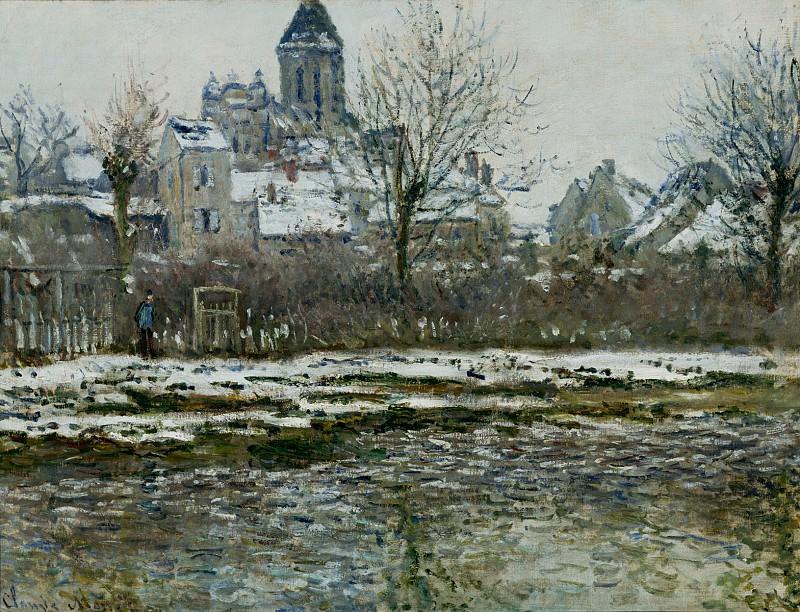 Vetheuil, the Church, Snow. Claude Oscar Monet