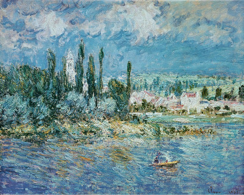Landscape with Thunderstorm. Claude Oscar Monet