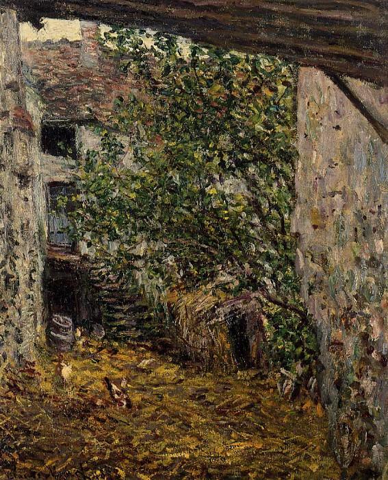 Farmyard. Claude Oscar Monet