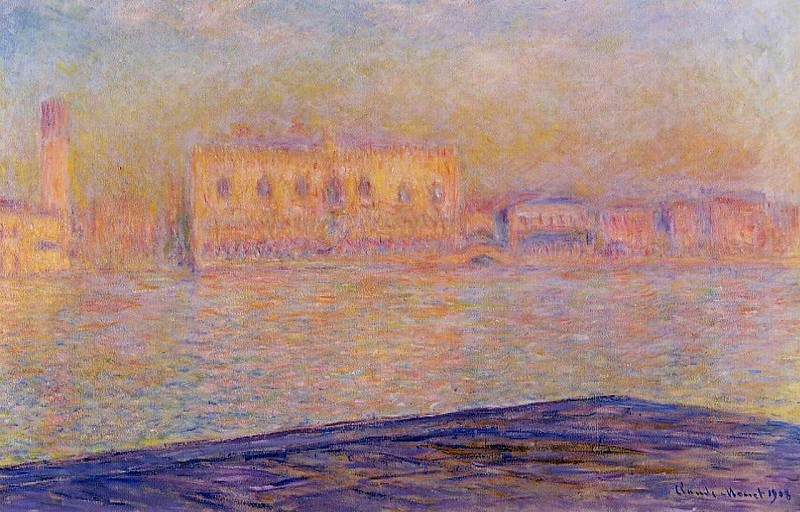 The Doges' Palace Seen from San Giorgio Maggiore. Claude Oscar Monet