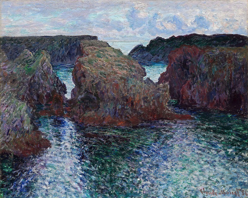Belle-Ile, Rocks at Port-Goulphar. Claude Oscar Monet