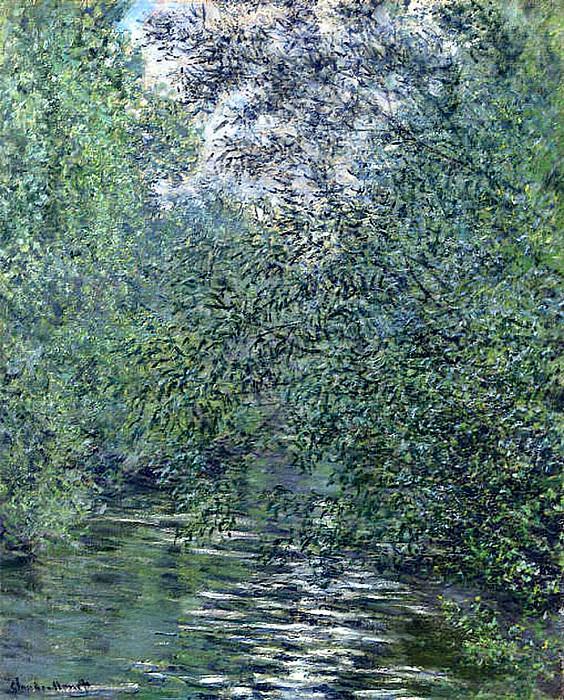 The Willows on the River. Claude Oscar Monet
